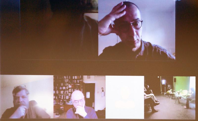 Участники дискуссии по Skype
